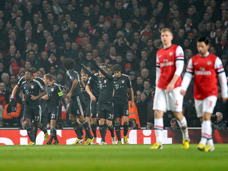 Bayern de Munique venceu o Arsenal no primeiro jogo por 3 a 1