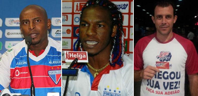 Heleno, Geraldo e Fabrício estiveram no elenco do Ceará que conquistou o acesso para a Série A em 2009