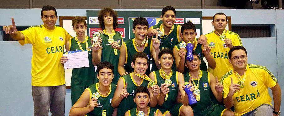 A seleção cearense sub-15 venceu todas as partidas disputadas em Poços de Caldas (FOTO:William Lucas/Inovafoto)