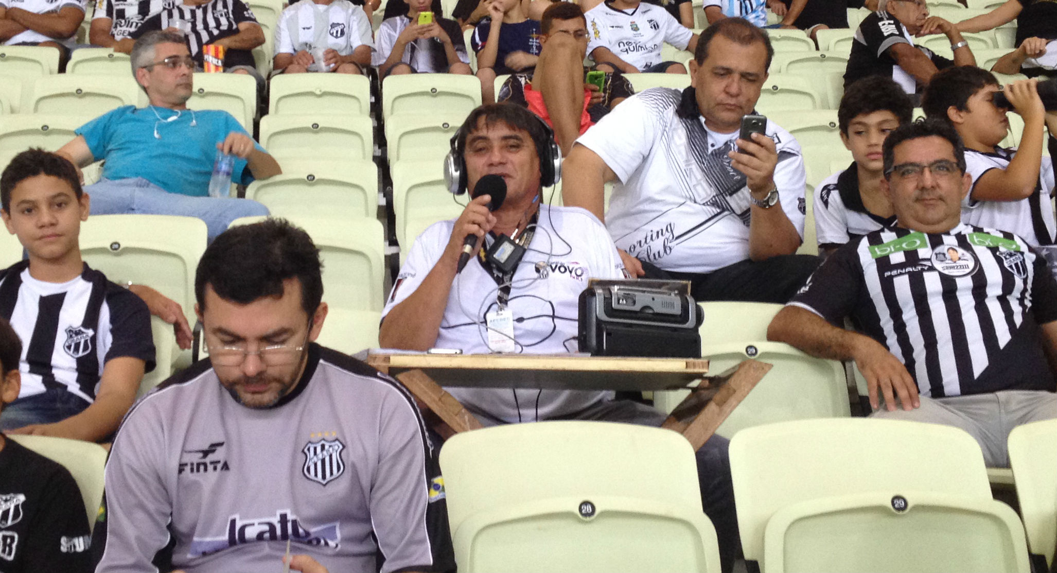 Jota Rômulo narrou a eliminação inacreditável do Ceará na Copa do Brasil (FOTO: Lucas Catrib)