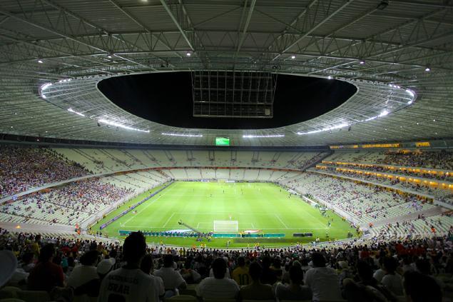 A Arena Castelão foi inaugurada oficialmente para jogos em janeiro de 2013 (FOTO: Divulgação/Secopa)