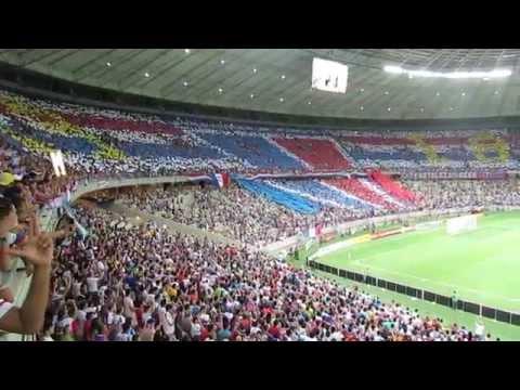 Mosaico feito pela torcida do Fortaleza na final do campeonato cearense de 2014. (Foto: Youtube)