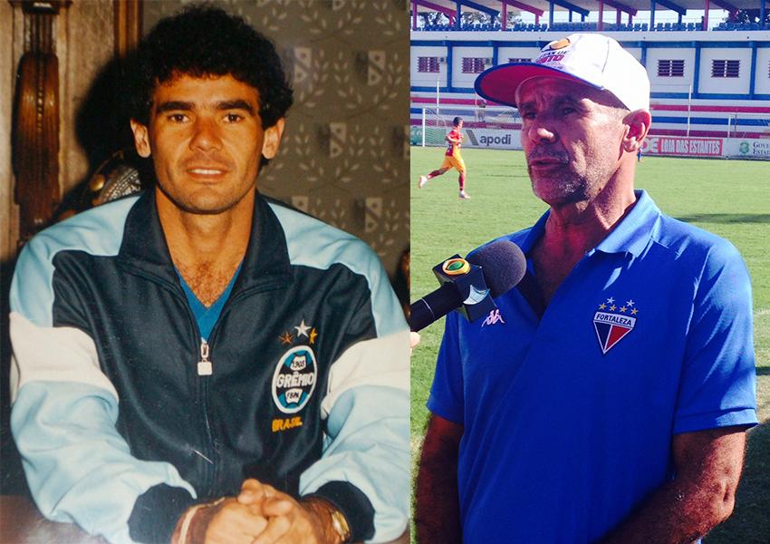 Jorge Veras brilhou com a camisa do Grêmio. Atualmente, o ex-atacante é técnico das categorias de base do Fortaleza (FOTO: Arte/Tiago Leite)