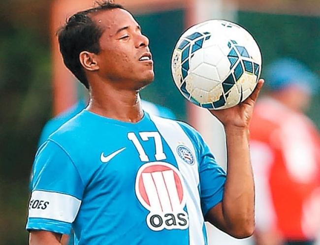 Marcos Aurélio é o meia que interessa ao Ceará. (Foto: Divulgação/Bahia)