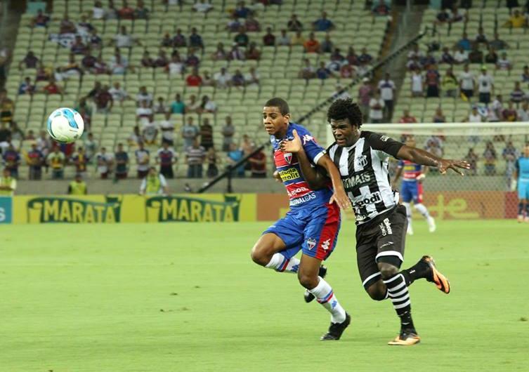 Ceará e Fortaleza empataram por 1 a 1 na estreia da Copa do Nordeste (FOTO: divulgação/Nodge Nogueira)