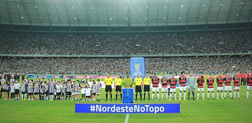 A segunda partida da final da Copa do Nordeste 2014 recebeu 61.280 pagantes na Arena Castelão (FOTO: divulgação)