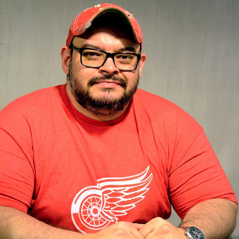 Flávio de Moura é cearense e torcedor fanático do Detroid Red Wings. (Foto: Divulgação)