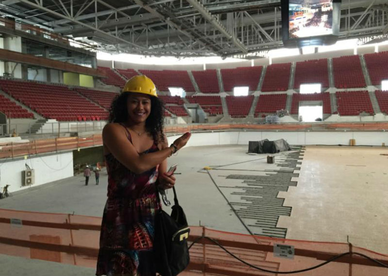 Cearense, a pivô afirmou ser um sonho um equipamento na sua cidade (Foto: Divulgação/Sesporte)