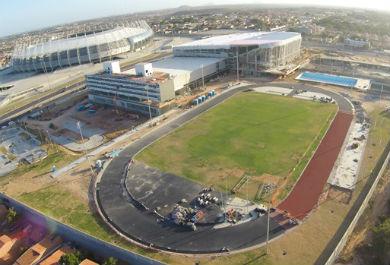 A Arena Castelão e o CFO ficam um ao lado do outro (Foto: Divulgação)