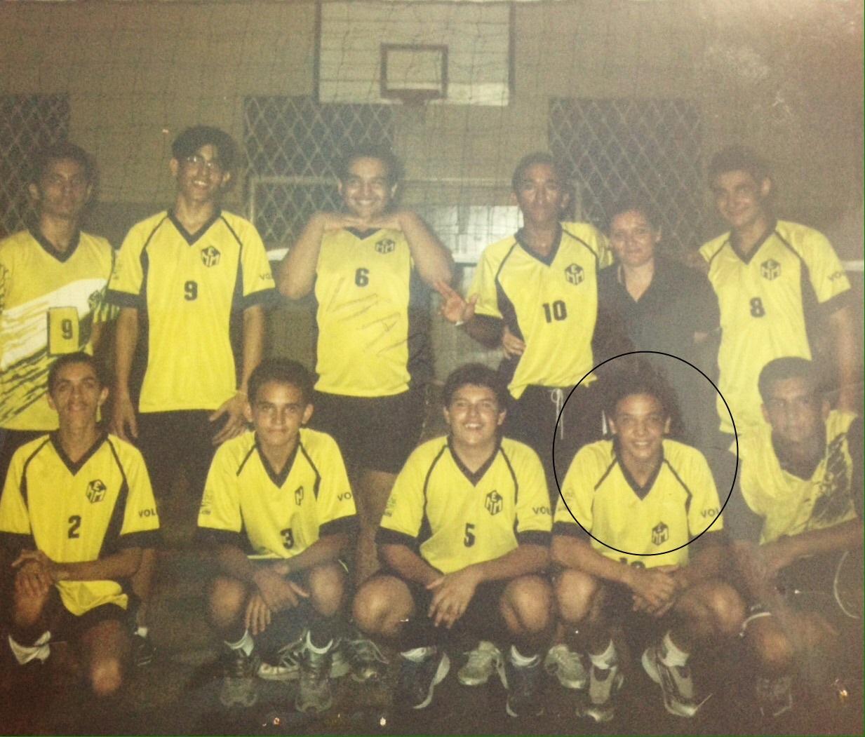 Wesley Safadão foi destaque no vôlei estudantil (Foto: arquivo pessoal)