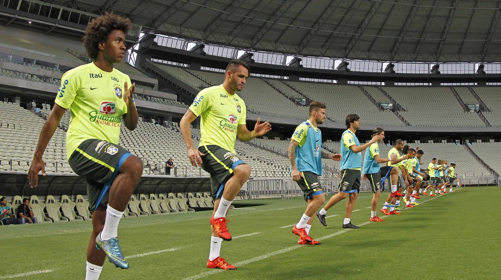 Os jogadores brasileiros estão em Fortaleza desde a última sexta (9) (Foto: Rafael Ribeiro/CBF)