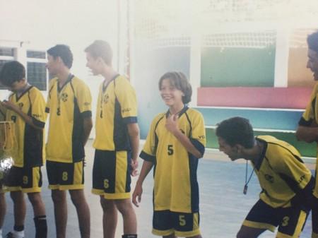 Wesley Safadão foi campeão escolar de vôlei e teve destaque também no futsal