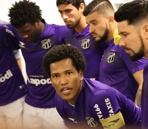 O capitão João Marcos falou emocionado sobre a importância do jogo (FOTO: Reprodução/VozãoTV)