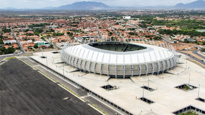 A Arena Castelão já foi palco de shows, festa eletrônica e jogos de futebol e também futsal (Foto: Divulgação)