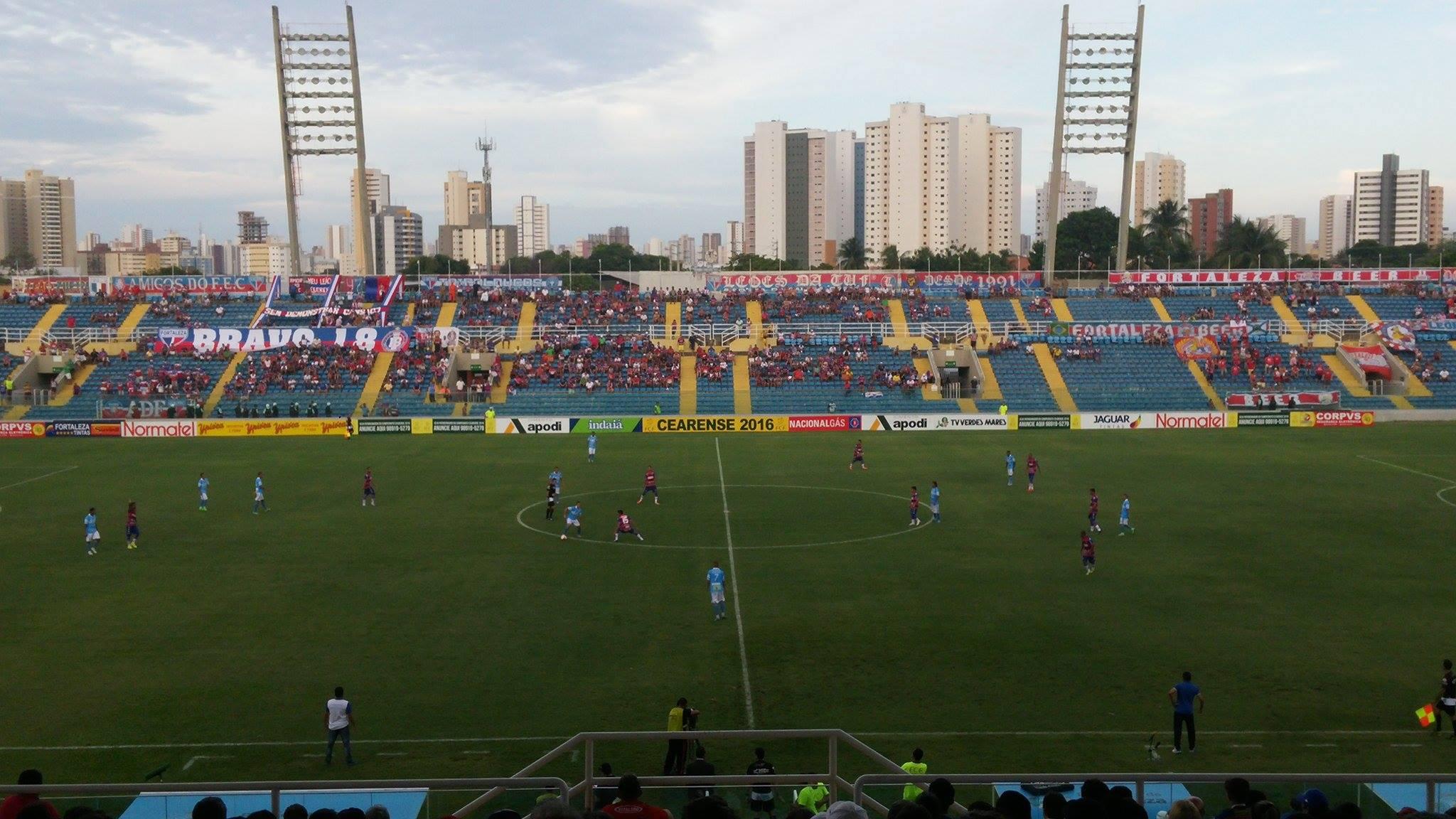 A partida aconteceu neste sábado no PV (FOTO: Lyvia Rocha/Tribuna do Ceará)