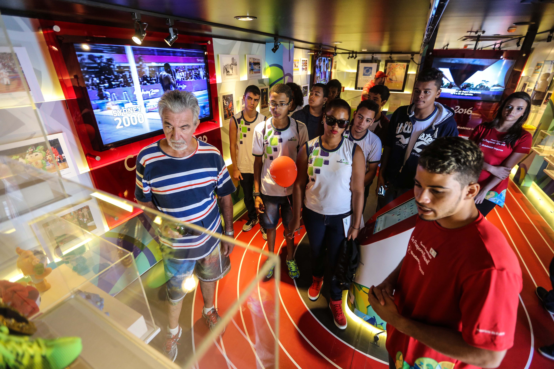 Praça de Fortaleza recebe museu itinerante sobre a história das Olimpíadas