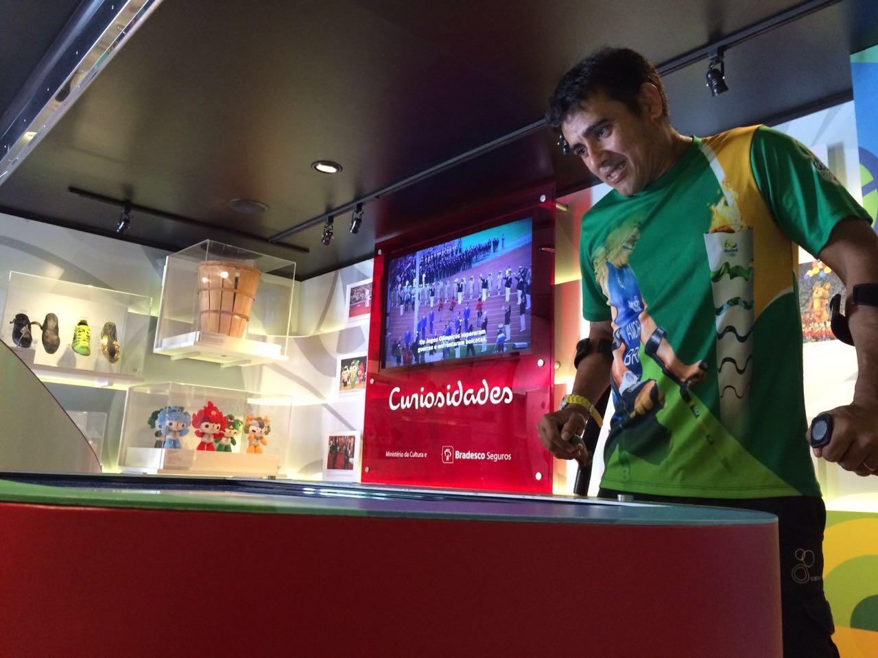 Levamos um paratleta cearense para se emocionar no Museu Itinerante das Olimpíadas