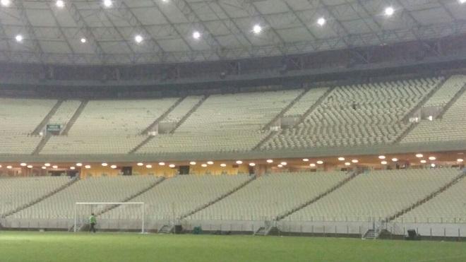Após nova derrota, atos de vandalismo dentro da Arena Castelão são menores
