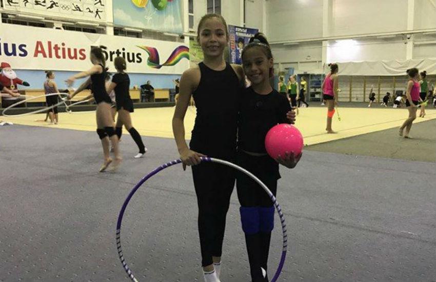 Atletas de projeto social de Fortaleza treinam ginástica rítmica na Rússia