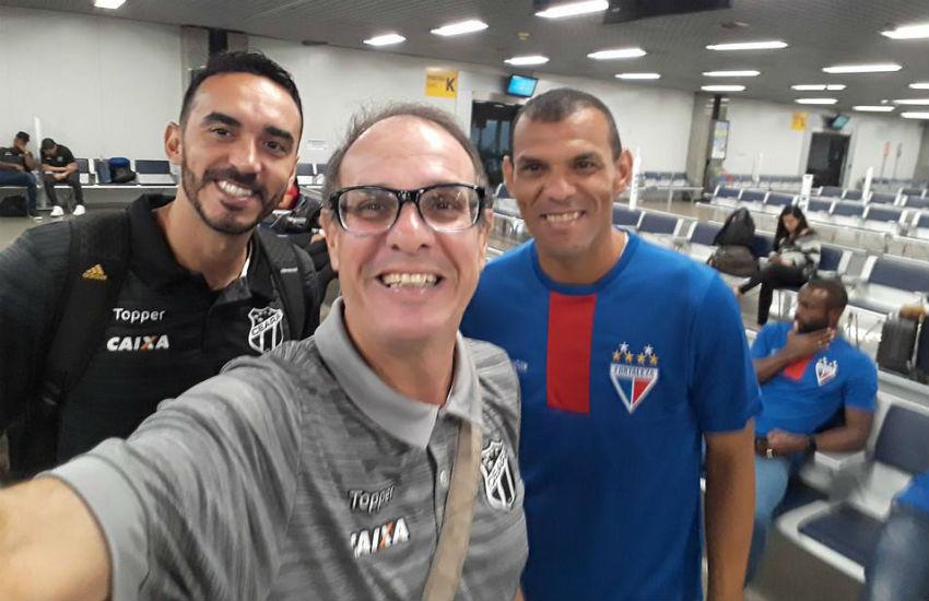 Elencos de Ceará e Fortaleza viajam no mesmo voo para jogos do Brasileiro