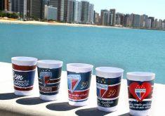 Os copos são personalizados (FOTO: Divulgação)
