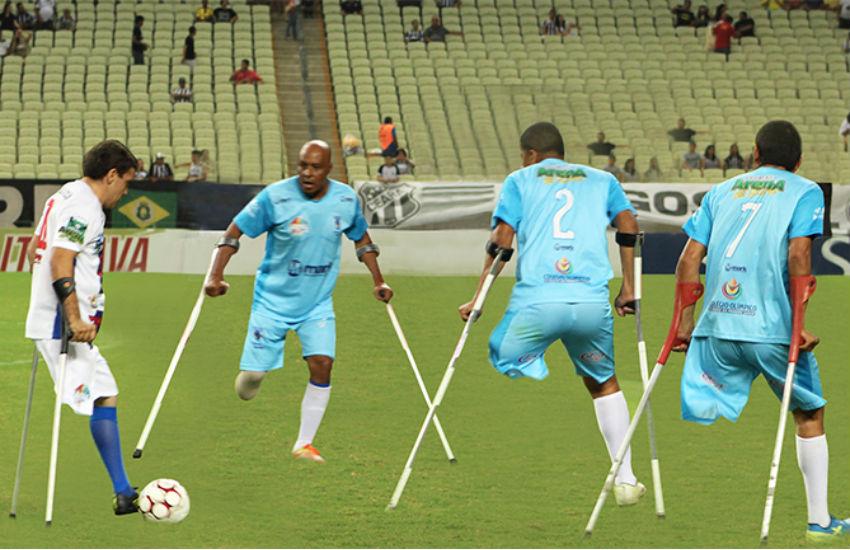 Seleção de amputados mostra que é possível superar barreiras no futebol