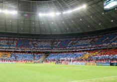 A torcida fez um mosaico antes do jogo contra o CSA (FOTO: Reprodução/Facebook)