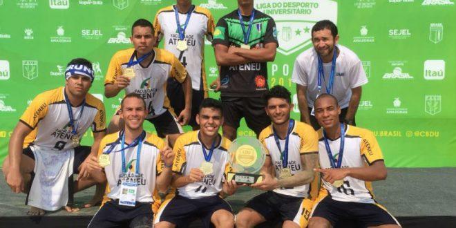 Equipe cearense universitária é campeã mundial de Beach Soccer