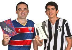 Emmanuel Brandão e Marcel Barros uniram futebol e literatura. (Foto: Divulgação)