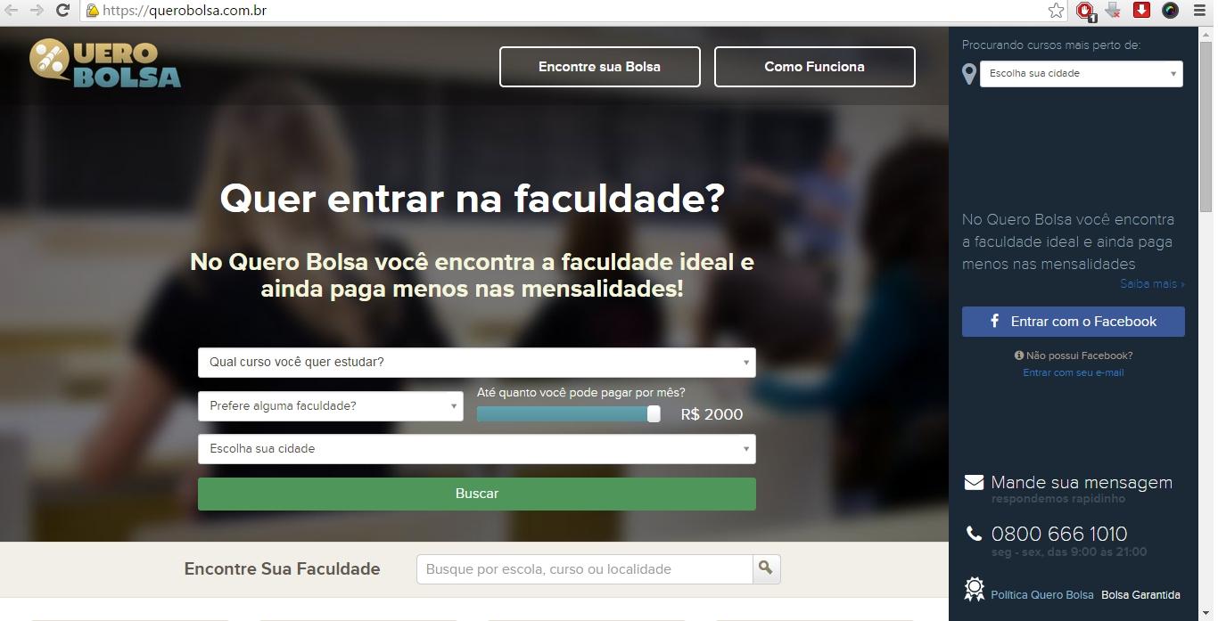 Quero Bolsa já facilitou a entrada de 30 mil pessoas no ensino superior (FOTO: Divulgação)