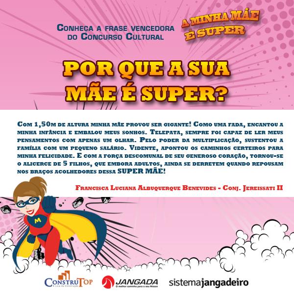 Resultado Concurso Super Mae