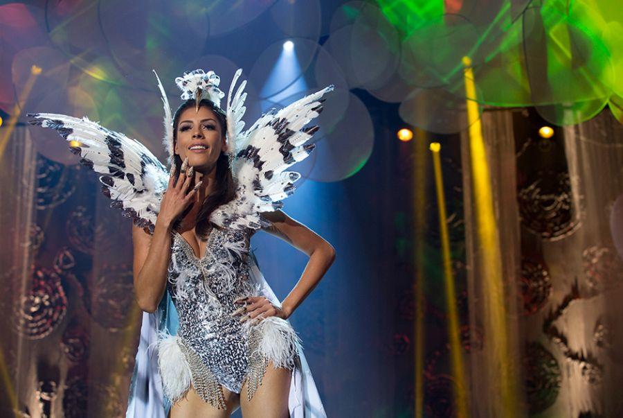 A Miss Distrito Federal, Nathalia Costa, representou a ave Hárpia, sua roupa foi feita por Breno Tavares