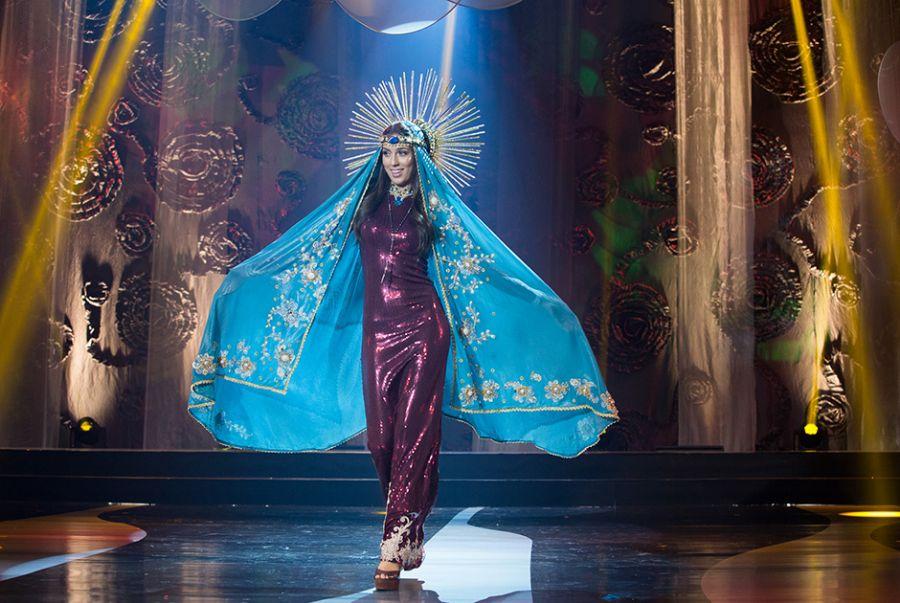Patrícia dos Anjos, a Miss Paraíba, representou a religiosidade e regionalismos do Estado com o traje A Compadecida Religiosidade Paraibana