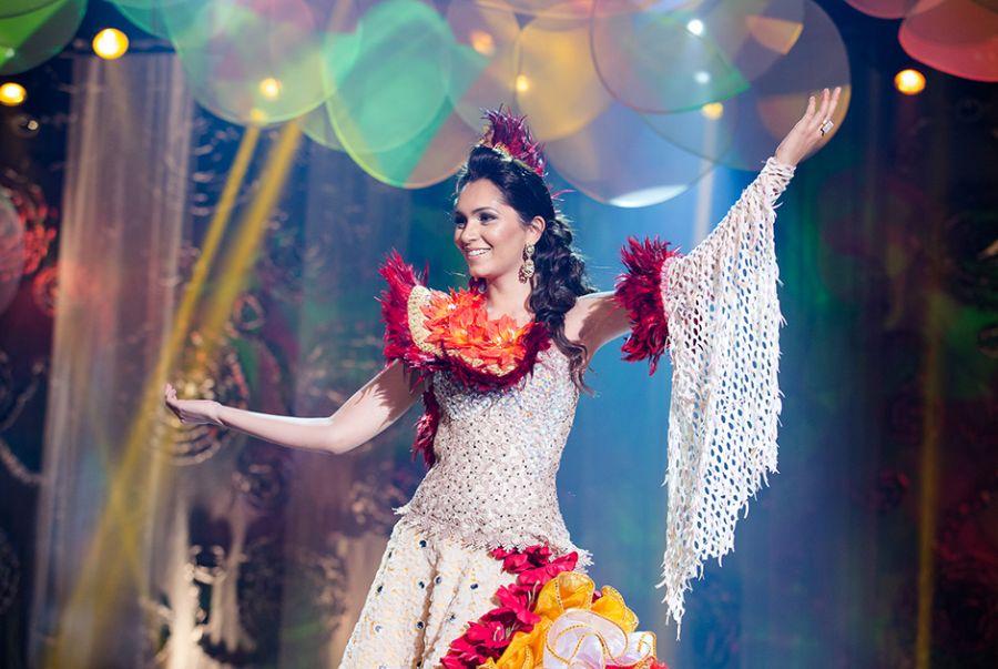 Jeane Aguiar, a Miss Rondônia, representou no traje Ribeirinha a população que vivie às margens dos rios