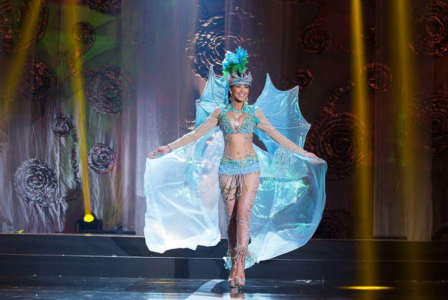 Francielle Brito, a Miss Santa Catarina, representou o litoral do Estado com a roupa A Deusa dos Mares Catarinenses