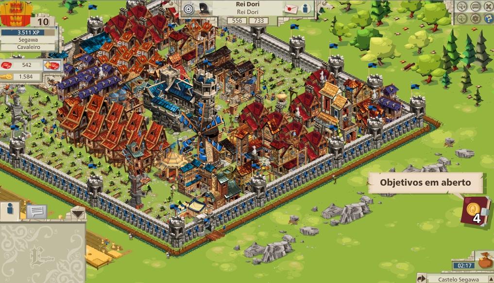 No início do jogo, são apresentadas algumas instruções básicas para a partir de então os jogadores desenvolvam seus impérios (FOTO: Reprodução)