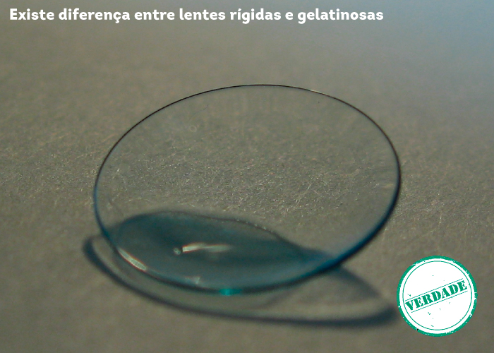 Existe diferença entre lentes rígidas e gelatinosas
