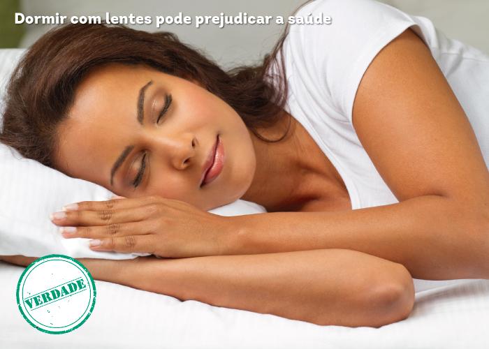 Dormir com lentes pode prejudicar a saúde