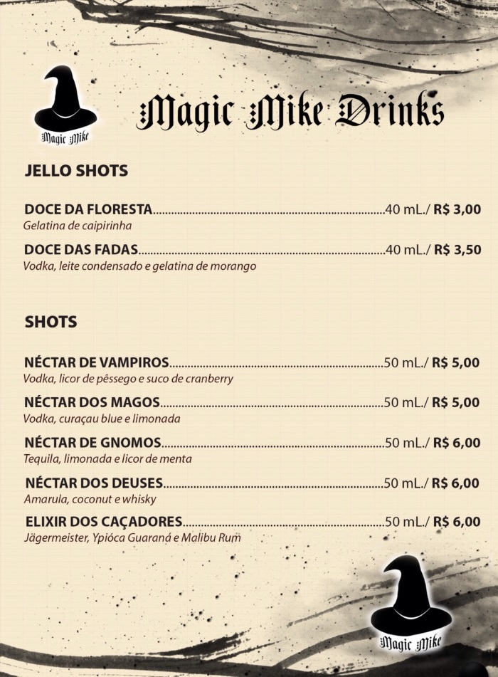 Magic Mike Drinks