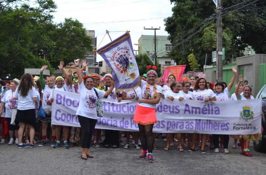 Bloco 'Adeus, Amélia' contou com apoio da We World Brasil e do Instituto Maria da Penha (FOTO: Divulgação)