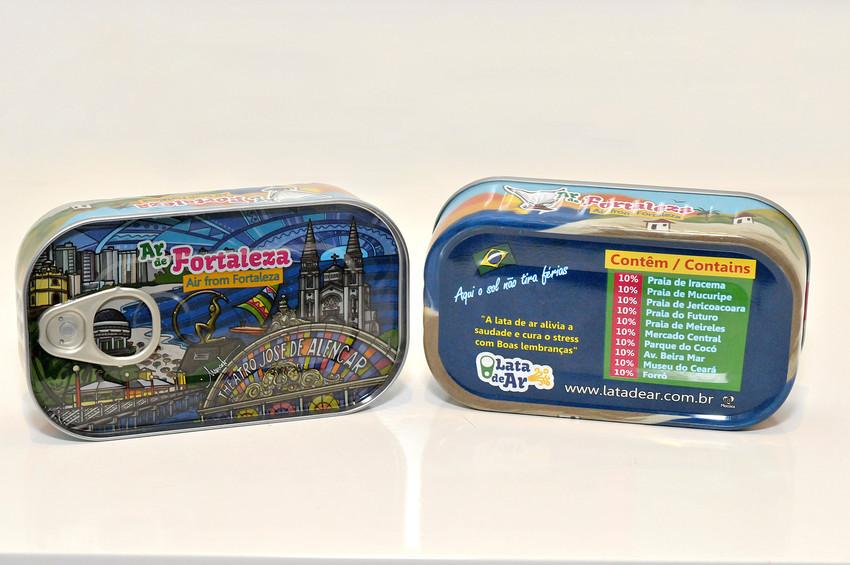 """""""Ar de Fortaleza"""" é vendido em latas de sardinha por R$ 12"""