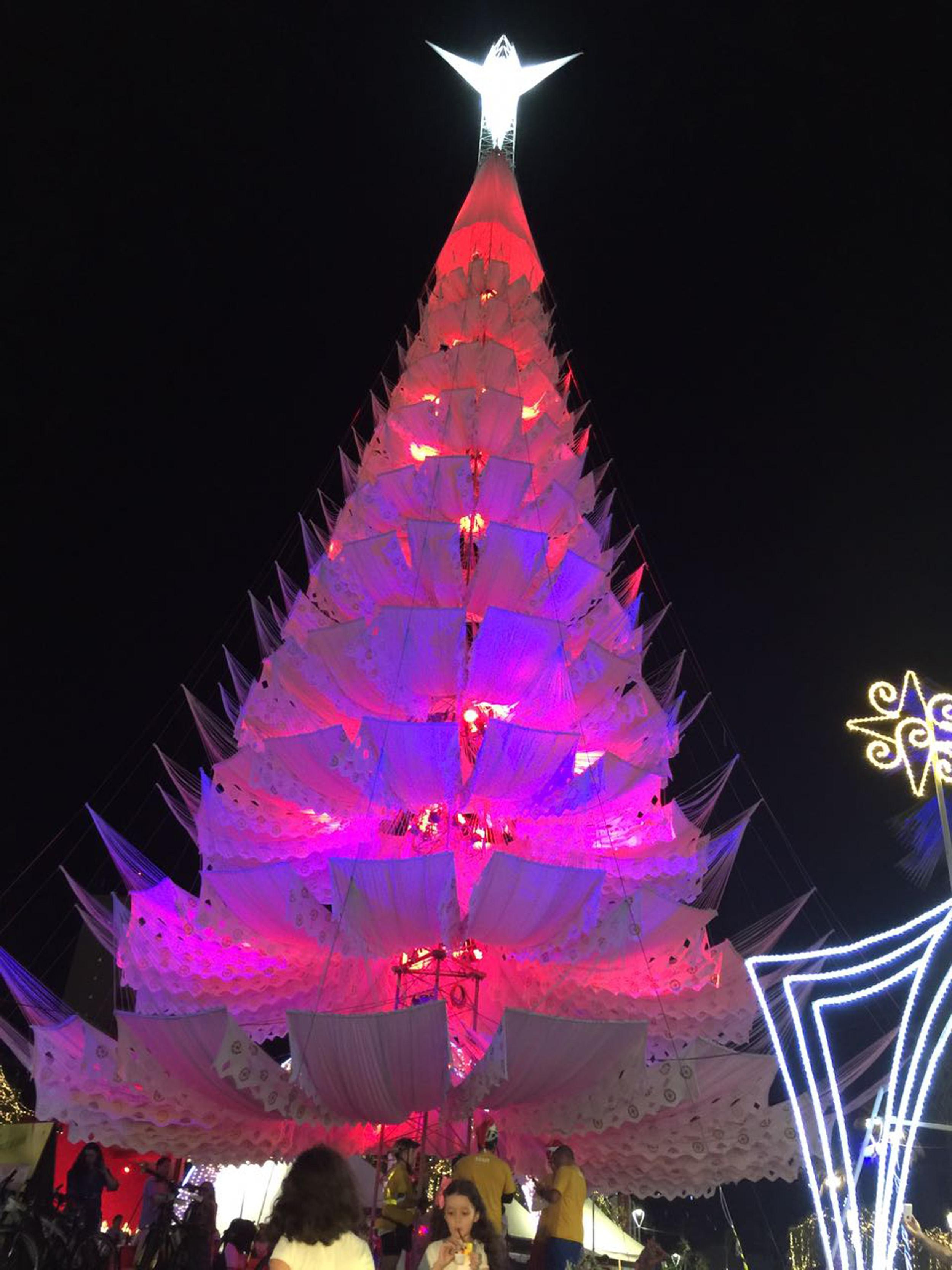 A decoração de Natal de Fortaleza é marcada por árvores diferentes