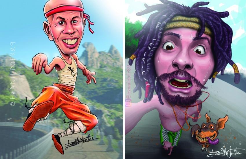 Tatuador cearense se destaca nas redes sociais pela perfeição de caricaturas de famosos