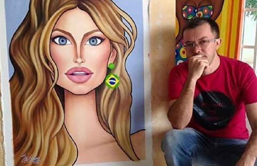 Caricaturista de Canindé alcança o reconhecimento de celebridades Brasil afora