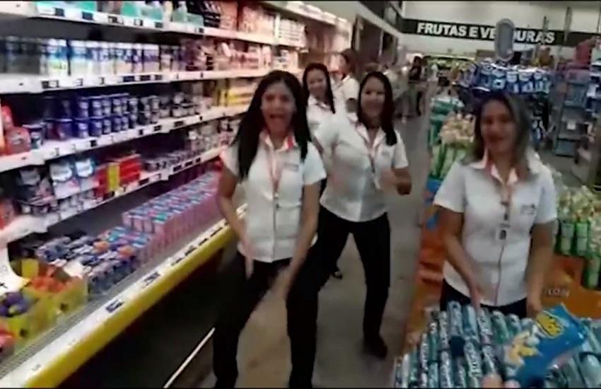 Funcionários de supermercado encaram o #ParadinhaChallenge e resultado é uma graça