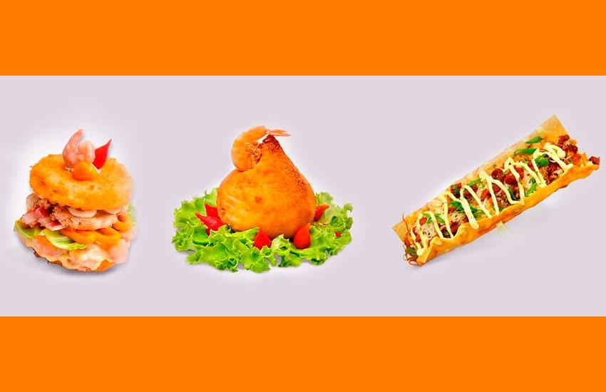 Restaurante de Fortaleza lança coxinha, cachorro-quente e até hambúrguer de sushi