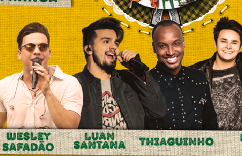 São João de Maracanaú 2018 terá Safadão, Thiaguinho, Luan Santana e Matheus & Kauan