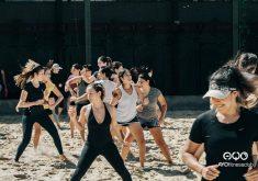 mulheres malhando na areia em referência a Academia de Fortaleza comemora aniversário com diversas programações ao longo deste sábado