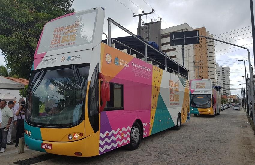 Ônibus turístico de Fortaleza vai funcionar todos os dias com bilhete a R$ 65
