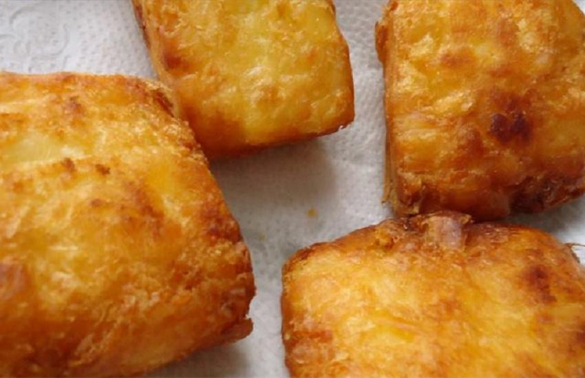 Mandioca frita empanada